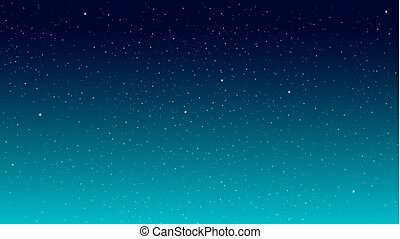 Star Sky - Stars on a blue background Star Sky