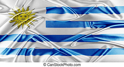 Uruguay Flag - Uruguay Flag. Flag with a beautiful glossy...