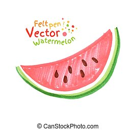 Child drawing of watermelon.