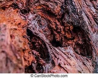 Solid lava - Texture of red volcanic stone made after...