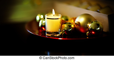 Christmas Still Life - Christmas style composition with...