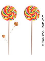 Lollypop - Colorful big lollypop single and as a tree...