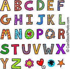Alphabet Text Doodle