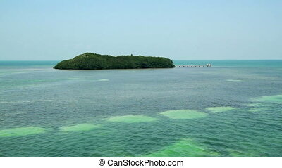 Florida Keys Mangrove Island placed perfectly in tropical...