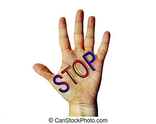 Hand stop sign of refusing image picture background