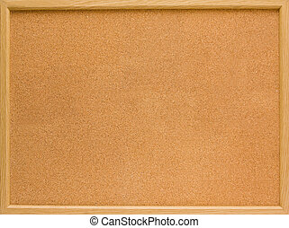 corkboard - brown corkboard with important message