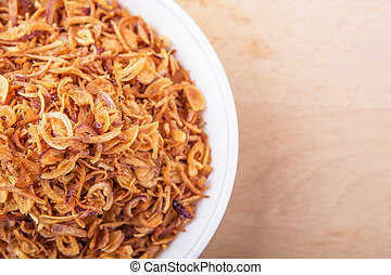 Deep Fried Shallots - Deep fried shallots for garnishing in...