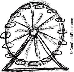 doodle Ferris wheel vector