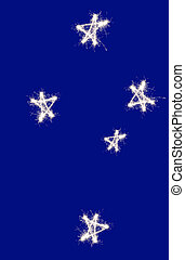The Southern Cross constellation of Crux as represented on...
