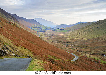 The lake District in Cumbria England