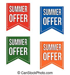 Summer offer banner design set