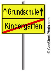 Primary School - Shield with the german words primary school...