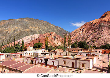 Purmamarca in Salta - View over the town of Purmamarca in...