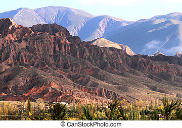 Landscape in Salta in Argentina, South America.