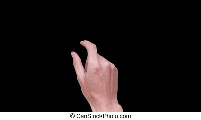 Touch Screen Finger Gestures - Full HD quality footage male...