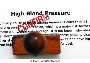 High blood pressure - confirm