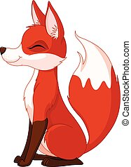 Red fox  - Illustration of a very cute red fox