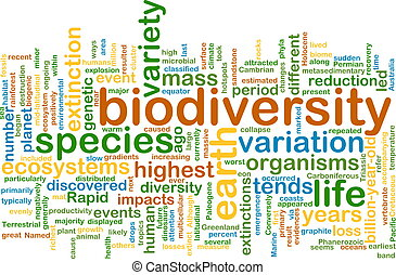 biodiversity wordcloud concept illustration - Background...