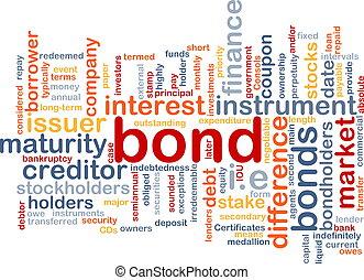 Bond wordcloud concept illustration - Background text...