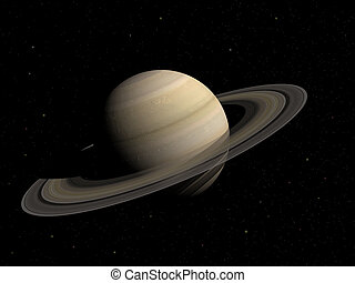 Saturn - 3d render of the planet Saturn