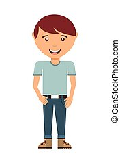 man standing design, vector illustration eps10 graphic