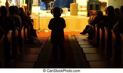 Anonymous Girl in Theatre Auditorium Defocused - Anonymous...