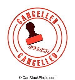 cancelled seal design, vector illustration eps10 graphic