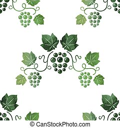 Grape vine seamless background.