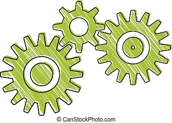 Gears working together. Can symbolize how teammembers work...
