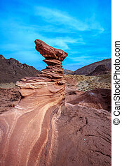 The mountains of Eilat - Outcrops of pink sandstone unusual...
