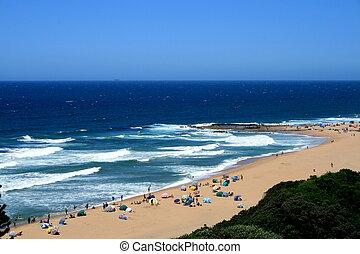 beach - overhead view of beach
