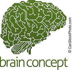 Electrical circuit board brain - An illustration of an...