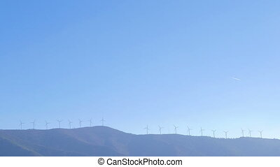Wind Turbines on the horizon - Many Wind Turbines on the...
