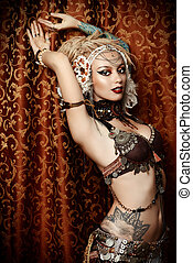 bellydance - Beautiful traditional female dancer Ethnic...
