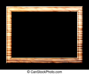 Yellow - Brown Frame - Rectangular embossed abstract empty...