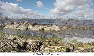 spring lake landscape, Timelapse 4K