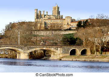 Beziers France - the church in Beziers Herault,...