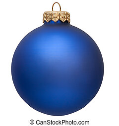 blue christmas ornament Isolated over white