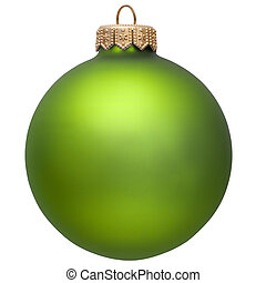 green christmas ornament Isolated over white