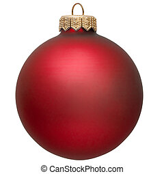red christmas ornament Isolated over white