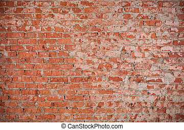 Red brick wall texture - Vintage red brick wall texture for...