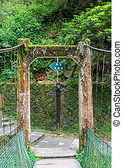 Alishan Bridge - Detail of small bridge at Alishan national...