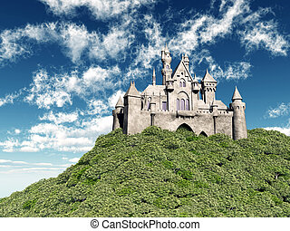Castle - Computer generated 3D illustration with a castle