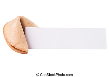 Fortune cookies - Fortune cookie with blank piece of paper...