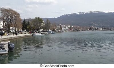 Lake Ohrid, Macedonia - Video of a Lake Ohrid, Macedonia ,...
