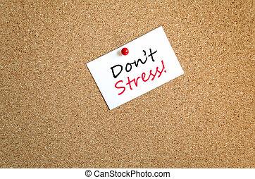Sticky Note Don't Stress Concept