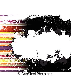 Abstract Grunge Stripe Background in several colors. Vector...