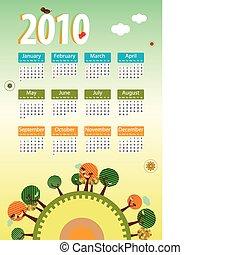 Calendar 2010 Environmental retro planet