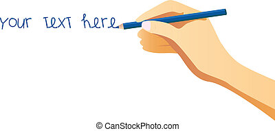 Hand Writing - Hand writing place your text as you want