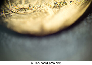 Supermacro of Old Coin